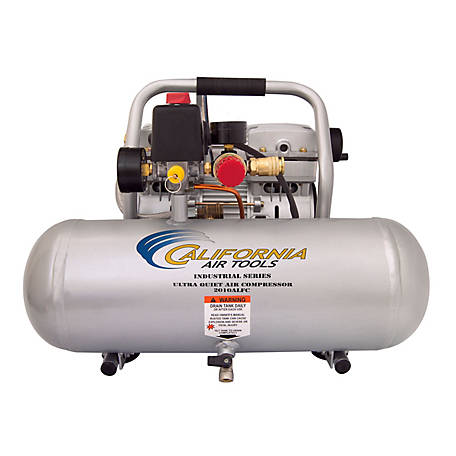 California Air Tools 2010ALFC Ultra Quiet & Oil-Free 1.0 HP, 2.0 gal. Aluminum Tank Industrial Air Compressor