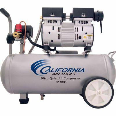 California Air Tools 5510 Ultra Quiet & Oil-Free 1.0 HP; 5.5 gal. Steel Tank Air Compressor