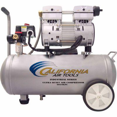 California Air Tools 6010LFC Ultra Quiet & Oil-Free 1.0 HP; 6.0 gal. Steel Tank Air Compressor