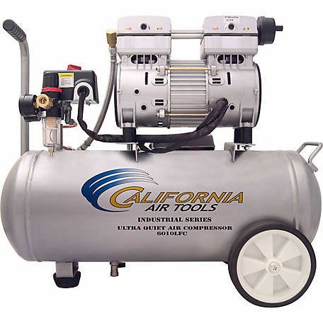 California Air Tools 6010LFC Ultra Quiet & Oil-Free 1.0 HP, 6.0 gal. Steel Tank Air Compressor