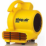 Shop-Air Self-Contained Air Mover, 200 CFM, Yellow
