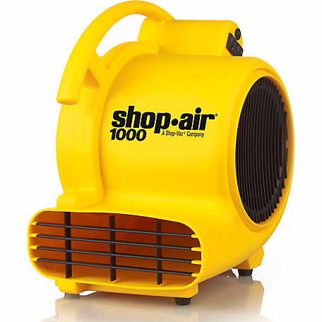 Shop-Air Self-Contained Air Mover, 1,000 CFM, Yellow