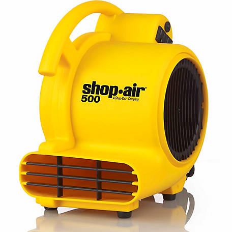 Shop-Air Self-Contained Air Mover, 500 CFM, Yellow