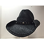 DPC Black Toyo Western Hat with Star Band