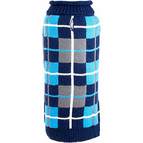 The Worthy Dog Oxford Plaid Dog Sweater