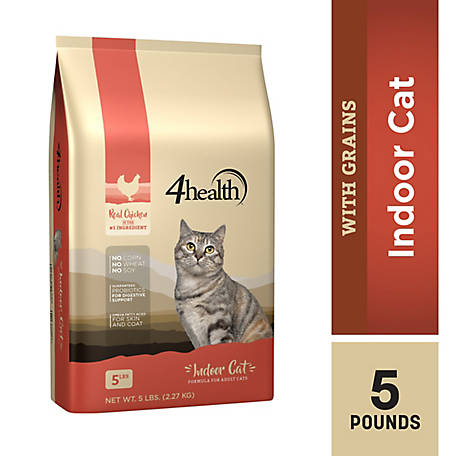 4health Original Indoor Cat Formula for Adult Cats, 5 lb. Bag