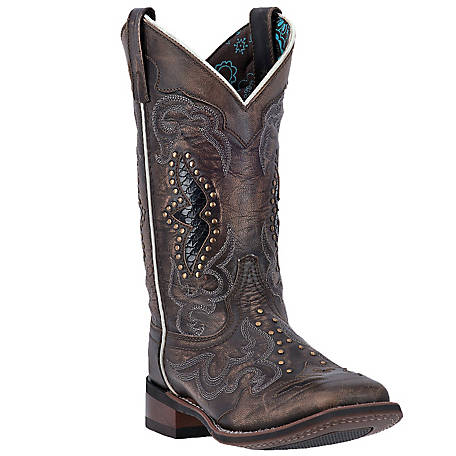 Laredo Women's Spellbound 11 in. Cowboy Boot Black/Tan