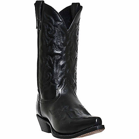 moderate cost special buy first look Laredo Men's Hawk 12 in. Black Leather Western Boot at ...