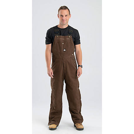 Berne Men's Insulated Washed Duck Quilt-Lined Traditional Bib Overall