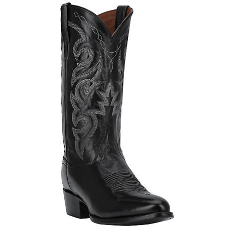 Dan Post Men's Milwaukee 13 in. Shaft Black Leather Western Boot