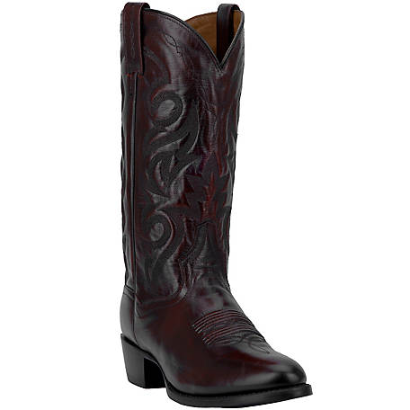 Dan Post Men's Milwaukee 13 in. Shaft Black Cherry Leather Western Boot