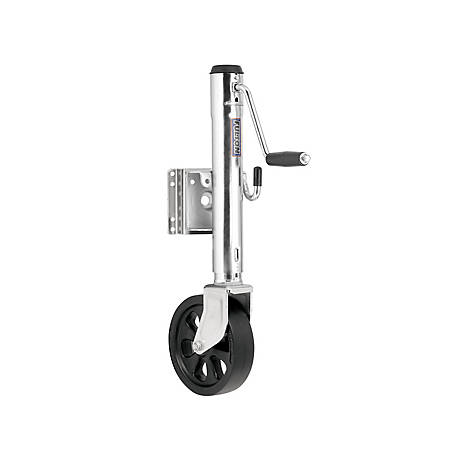 FULTON Trailer Jack, 8 in. Caster Wheel, XP15L 0101