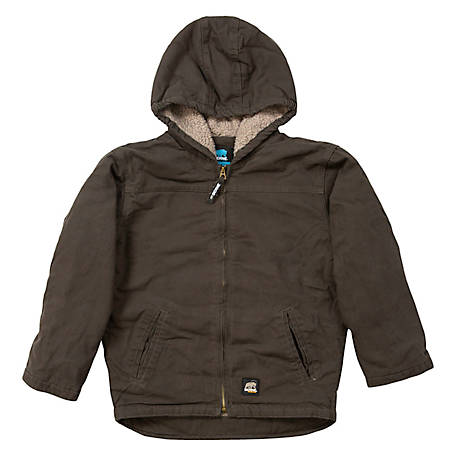 Berne Toddler Washed Duck Sherpa-Lined Insulated Hooded Jacket