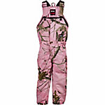 Berne Toddler Girl's Pink Realtree Camouflage Quilt-Lined Insulated Bib Overall