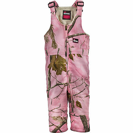Berne Infant Girl S Pink Realtree Camouflage Quilt Lined Insulated