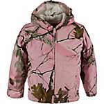 Berne Girl's Pink Realtree Camouflage Sherpa-Lined Insulated Hooded Jacket