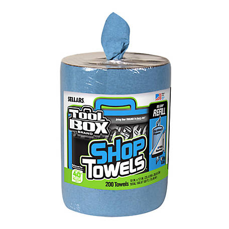 TOOLBOX 200 ct. Toolbox Blue Shop Towel Big Grip Refill, 5520701