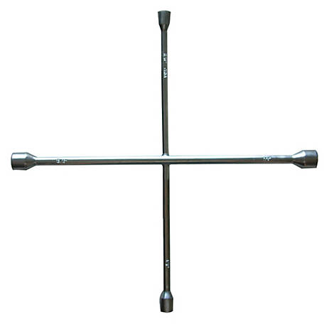 Traveller Lug Wrench, 20 in., Chrome, SAE