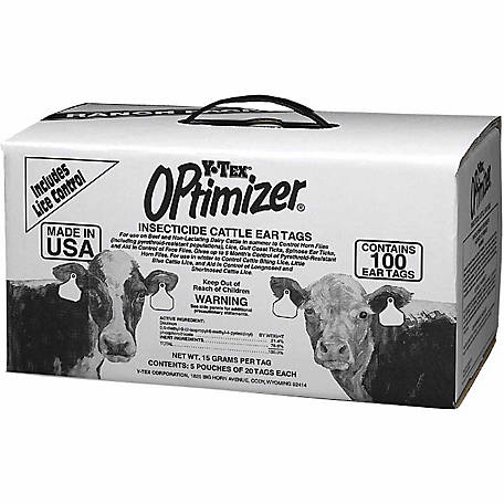 Y-Tex OPTimizer Insect Tag, Ranch, Pack of 100