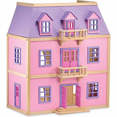 Melissa Doug Multi Level Wooden Dollhouse At Tractor Supply Co