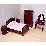 Melissa & Doug Dollhouse Bedroom Furniture Set