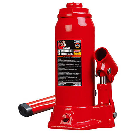 Big Red 6 Ton Hydraulic Bottle Jack
