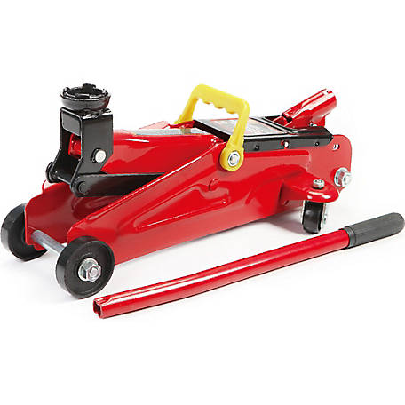 Torin Big Red T82002 2-Ton Hydraulic Trolley Jack with Carry Handle, Single Piston Pump, Red