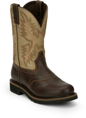 Justin Men S 11 In Cowhide Stampede Collection Boots At