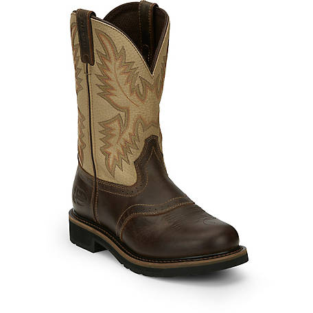 Justin Men's 11 in. Cowhide Stampede Collection Boots