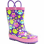 Western Chief Girl's Flower Owls Rain Boot
