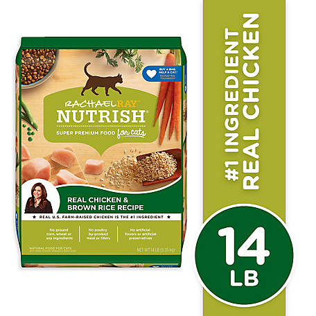 Rachael Ray Nutrish Natural Dry Cat Food, Chicken & Brown Rice Recipe, 14 lb. Bag