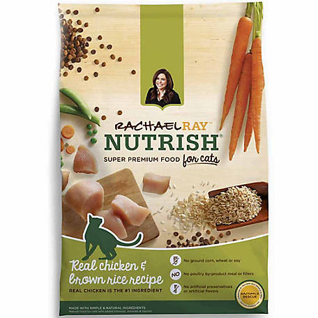 Rachael Ray Nutrish Natural Dry Cat Food, Chicken & Brown Rice Recipe, 3 lb. Bag