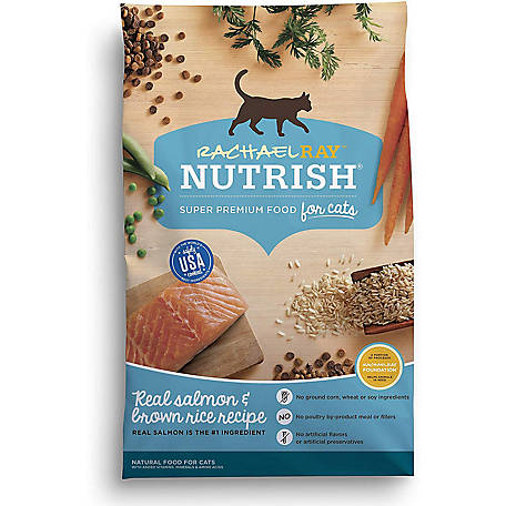 Rachael Ray Nutrish Salmon & Brown Rice Recipe Natural Dry Cat Food, 3 lb.
