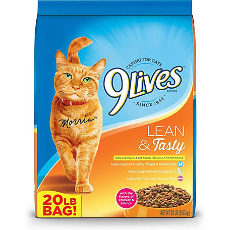 9Lives Lean & Tasty Cat Food, 20 lb. Bag