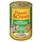 Paws & Claws Turkey & Giblets Dinner Cat Food, 22 oz. Can