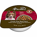 4health Grain Free Beef Dinner in Gravy with Carrots & Sun Dried Tomatoes Dog Food, 3.5 oz. Can