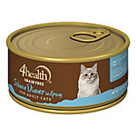 4health Grain-Free Shredded Salmon & Chicken Dinner in Gravy for Cats, 5.5 oz. Can