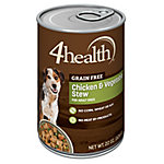 4health Grain Free Chicken & Vegetable Stew in Gravy Dog Food, 22 oz. Can
