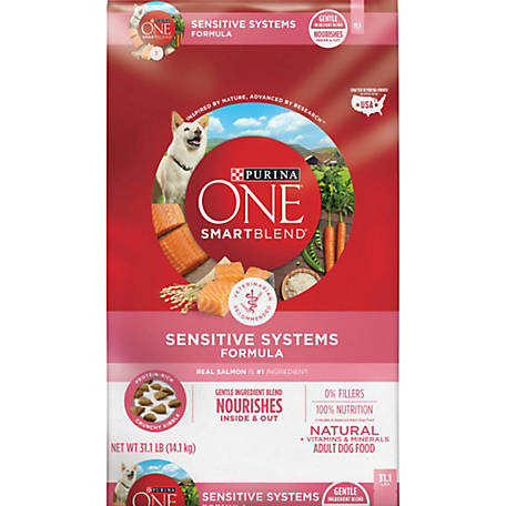 Purina ONE Natural Sensitive Stomach Dry Dog Food; SmartBlend Sensitive Systems Formula - 31.1 lb. Bag