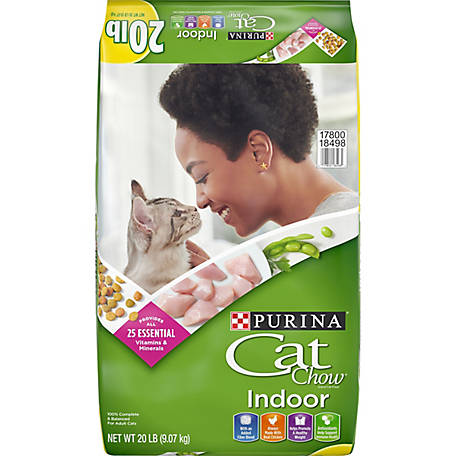 Purina Cat Chow Hairball, Healthy Weight, Indoor Dry Cat Food, Indoor, 20 lb. Bag
