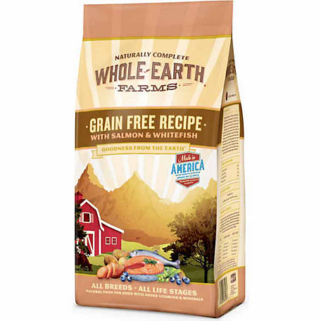 Merrick Grain Free Whole Earth Farms Recipe with Salmon & Whitefish Dog Food, 12 lb. Bag