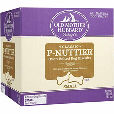 Old Mother Hubbard Classic P-Nuttier Oven-Baked Dog Biscuits, Small, 20 lb,