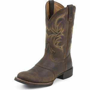 Justin Boots Men S 11 In Stampede Cattleman Boots At