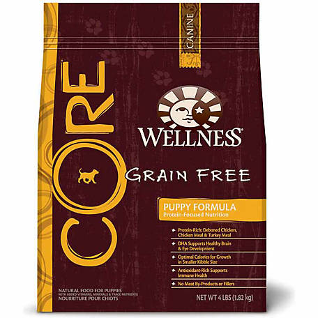 Wellness Core Natural Grain Free Puppy Formula Dog Food 4 Lb
