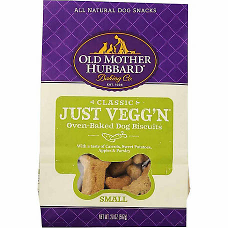 Old Mother Hubbard Classic Just Vegg'n Oven-Baked Dog Biscuits, Mini, 20 oz.