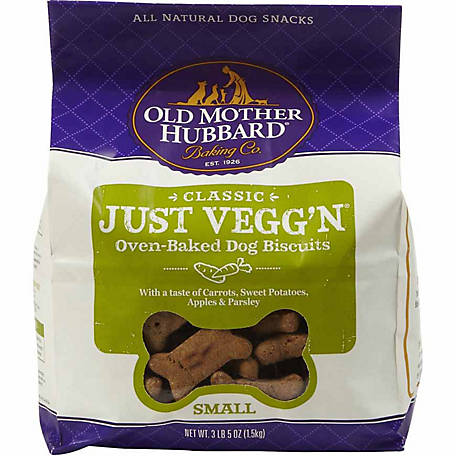 Old Mother Hubbard Classic Just Vegg'n Oven-Baked Dog Biscuits, Small, 3 lb. 5 oz.