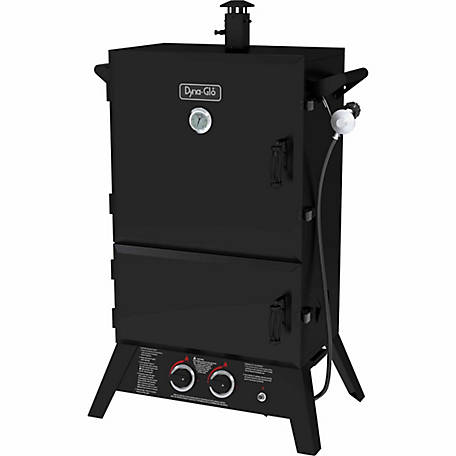 Dyna-Glo LP Wide-Body LP Gas Smoker, 31-2/7 in. x 20-1/3 in. x 49-5/7 in.