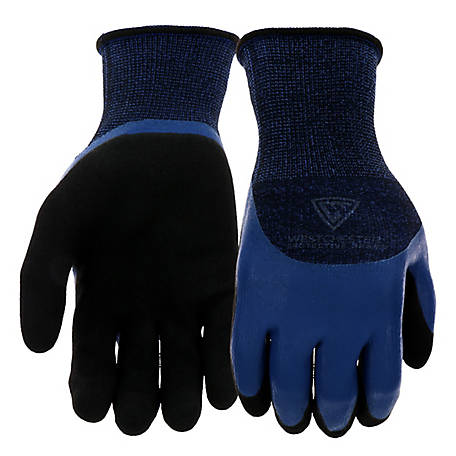 West Chester 3/4 Blue Flat Latex Glove with Sandy Latex Finish
