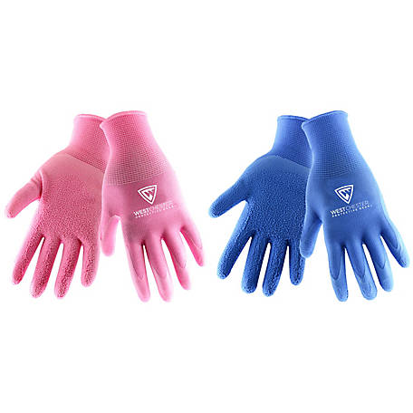 West Chester Women's Foam Latex Coated Glove, Pack of 2
