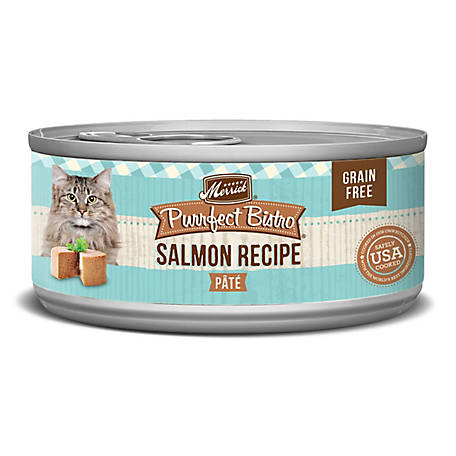 Merrick Grain Free Purrfect Bistro Salmon Pate Cat Food, 5.5 oz.